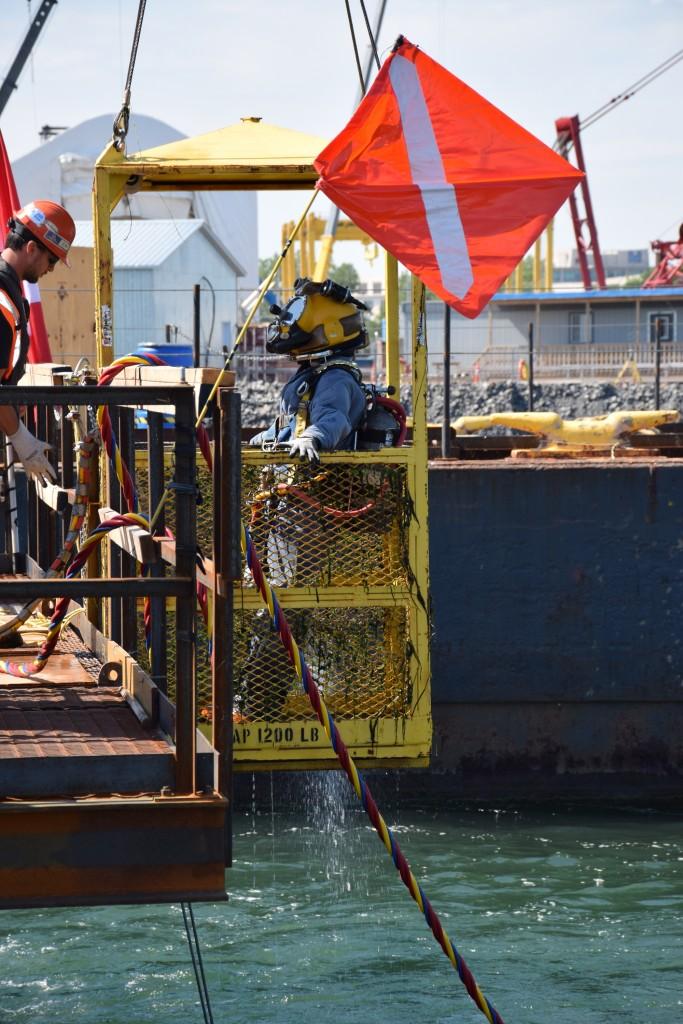 Inspection sous-marine des semelles